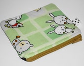 Kawaii Critters Zippered Pouch No. 2  (WB Classic) -- Ooak Rare Fabric
