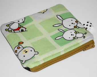 Kawaii Critters Zippered Pouch No. 2  (WB Classic) -- Ooak Rare Fabric