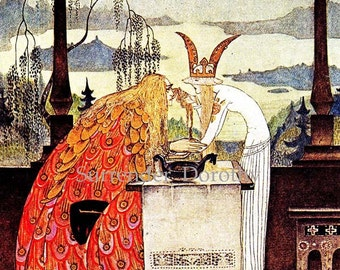 East Of The Sun West Of The Moon by Kay Nielsen Belle Epoque Nursery Illustration For Children