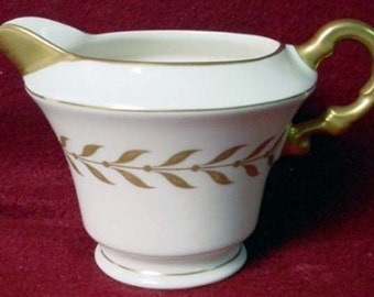 Vintage Syracuse China Jefferson Creamer Laurel Border 24k Gold Vintage Kitchen 1940s 1950s