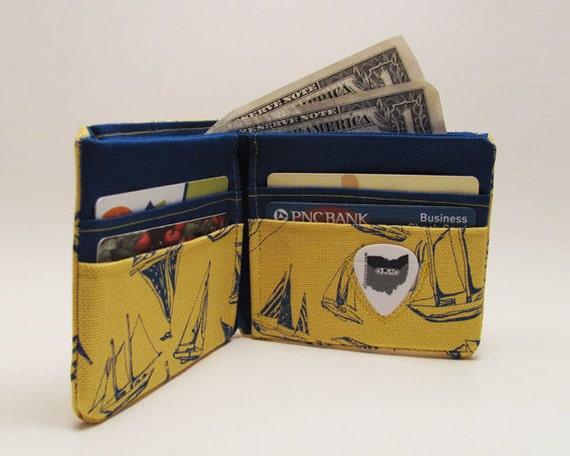 Yellow Sailboat  Bifold Wallet