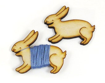 Flossy the Bunny Embroidery Floss Bobbin