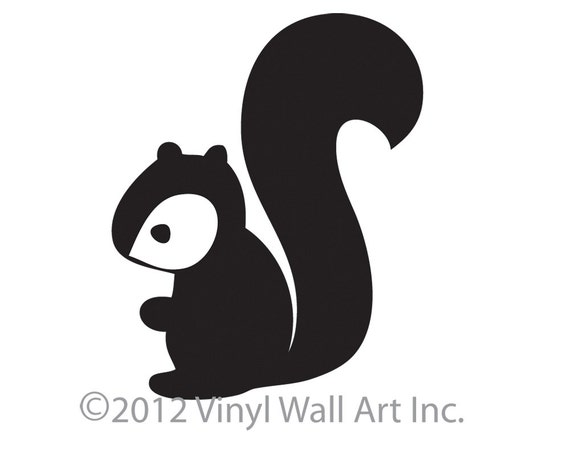 Woodland Squirrel Vinyl Wall Decal size LARGE