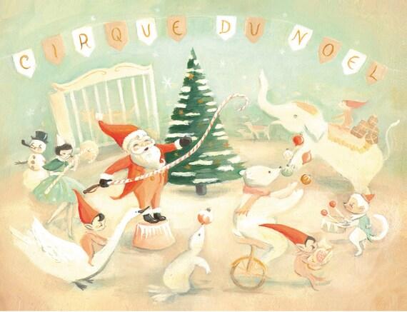 Original Painting : Cirque Du Noel