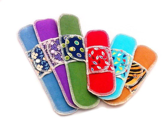 Organic Postpartum Kit - Moonpads Reusable Washable  Cotton Cloth Fabric Menstrual Pads