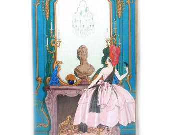 Passport Cover - The Masked Ball - Art Deco inspired passport holder - vintage images