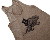 OCTOPUS with Top Hat Tank Top - American Apparel Tri-Blend Tank - (Available in sizes S, M, L)