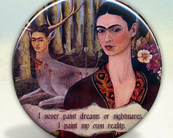 Frida and The Deer Pocket Mirror