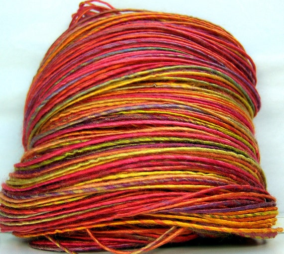 HandSpun Bamboo Yarn Summer Carnival 214 yards