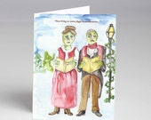 10 Pack Zombie Carolers Zombie Plague Holiday Cards