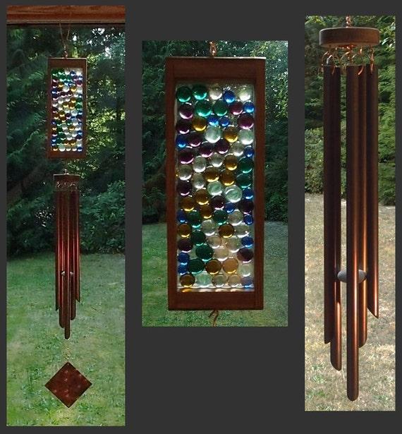 Wind Chime, Stained Glass, Copper, Windchime, Wind Chimes, Windchimes, Suncatcher