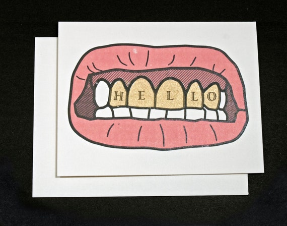 Gold Teeth card