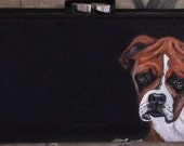 Boxer Dog Painted Ladies Leather Wallet