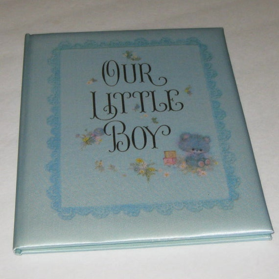 Vintage Baby Book Hallmark Our Little Boy Keepsake Book