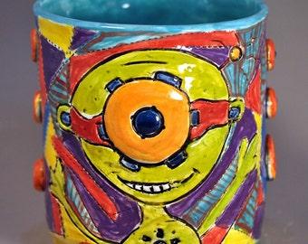 Steampunk Alien mug