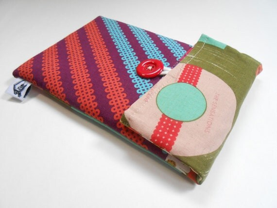 Kindle cover - case - sleeve / Fits Fire, Nexus, Galaxy , padded convertible cover for Ereaders or tablets -- The sensations