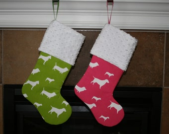 Holiday CHRISTMAS Stocking for your favorite Pet, Dog Christmas Stocking, Cat Christmas Stocking
