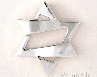 Faith Collection: Jazzy Silver Magen David (with 20 inch sterling silver chain)