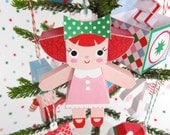Dolly, Dollhouse, Buggy Ornaments Printable Paper Christmas Crafts