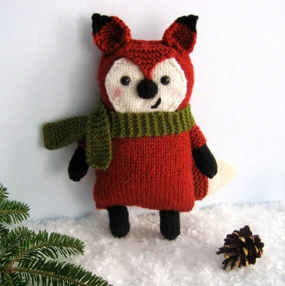 Knit Amigurumi Patterns : Amigurumi Knit Little Fox Pattern Digital Download