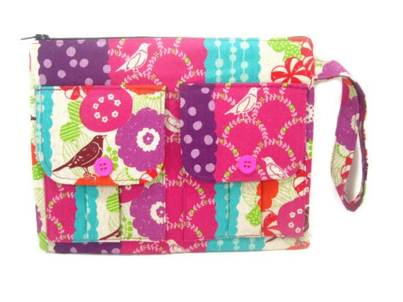 Wallet Wristlet - Peck Brown Echino Dorothy Wristlet Wallet