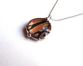 Real Butterfly Jewelry - Little Bubble Pendant - Monarch Butterfly