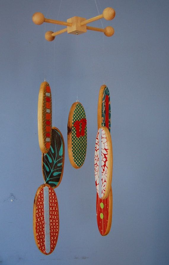 Baby Mobile Baby Crib Mobile Surfboard Mobile For A Beach