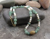 Summer Green and Gold Necklace