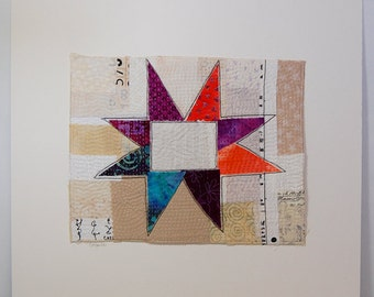 Star -  Art Quilt Wall Hanging