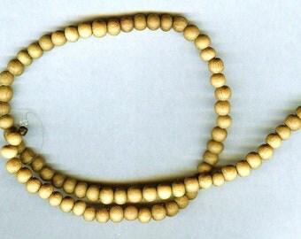 "UNFINISHED 6mm Unique Matte Nangka Wood Round Wood Beads 16"" Strand"