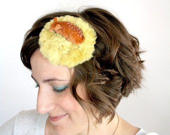 Oh Deer headband fascinator hat // possibly the cutest thing ever...