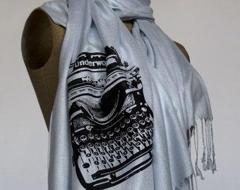 Bridesmaid wedding scarf package. 6 screen printed pashmina scarves, 20% wedding discount, matching design. Vegan safe.