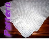 Easy crochet pattern pdf - Diagonal Baby Blanket - Corner to Corner afghan - easy shell stitch - 3ply 4ply sport yarn Snuggle
