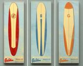 Surf Art Longboard Wall Art Box- Pick the Board & Size- Baby Boy Nursery Art- Kids Beach Decor- Surfboard Wall Art- Surfer Art- Summer Art