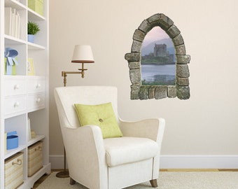 Castle Window Wall Decal Design 1