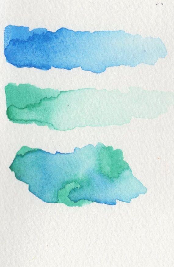 Items similar to color swatch samples for original for Watercolor painting samples