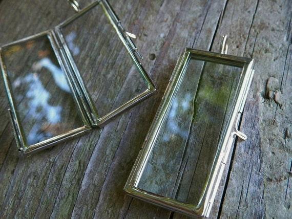 glass memory frame pendant locket for your precious photo