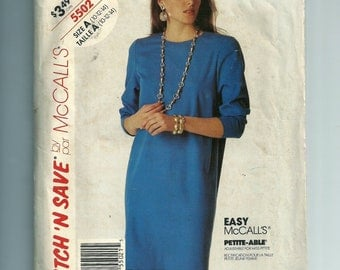 Vintage McCall's Misses' Dress Pattern 5502