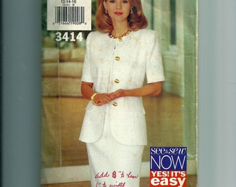 Butterick Misses' Jacket and Dress Pattern 3414
