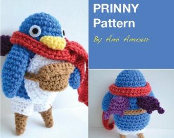 Prinny Penguin crochet pattern PDF amigurumi