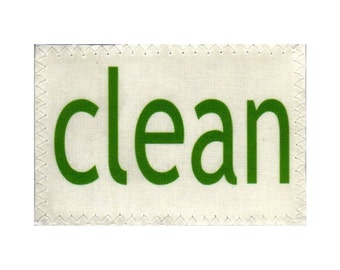 Dishwasher Clean Dirty Mini Flip Magnet Sign green GO clean red STOP dirty NOW Stainless Steel Option