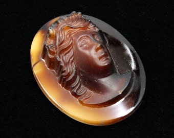26mm x 34mm Brown Cameo #1036