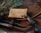 Primitive Christmas, Holly And Snowflakes Pillow Tuck Cross Stitch E Pattern PDF