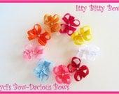 No Slip Itty Bitty Bows, 100 Colors, newborn bows, baby bows, toddler bows, no slip bows, girls bows, baby girl, International shipping