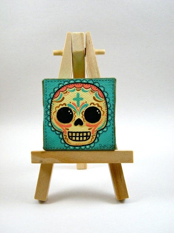 Sugar Skull Mini Canvas Painting