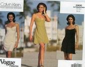 On Hold for TJ:   Vogue 2900 / Calvin Klein Misses' Dress / Size 6 - 8 - 10