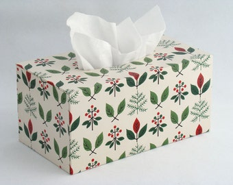 Large Tissue Box Cover 1950's Vintage Wallpaper The Ol' Twig 'n' Berry