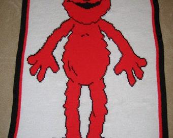 Elmo - Hand Made Crocheted Afghan - BRAND NEW