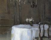 Art Print Green Wedding Dining - Reception Table by David Lloyd