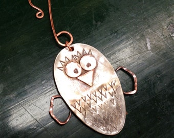 Spoon Owl/Chick Ornament
